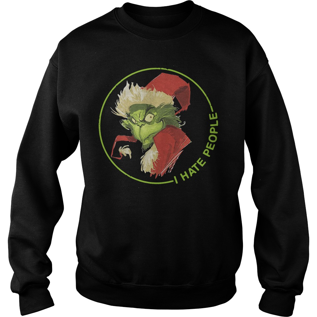 Santa Grinch I Hate People Christmas Sweater