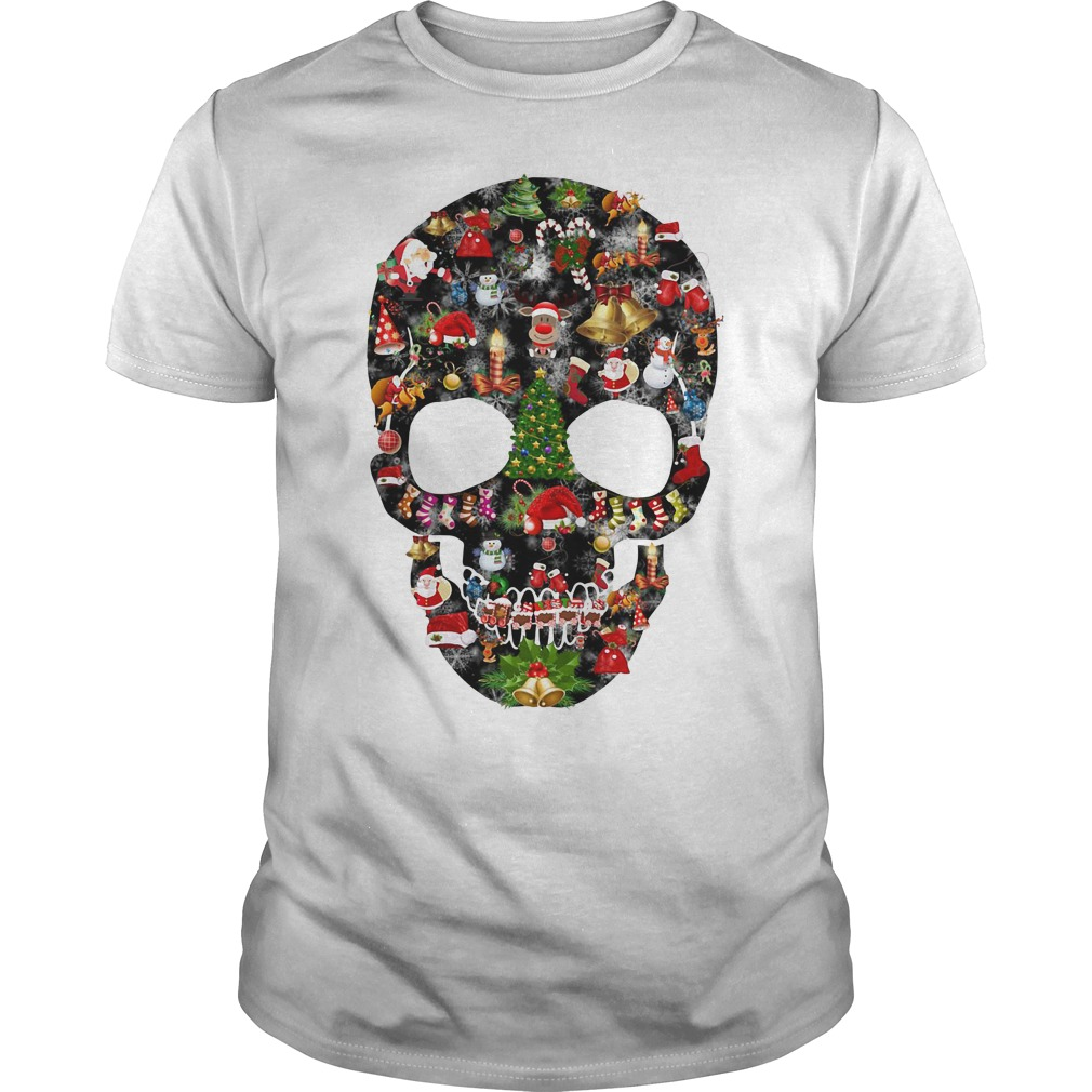 Skull print merry Christmas Guys shirt