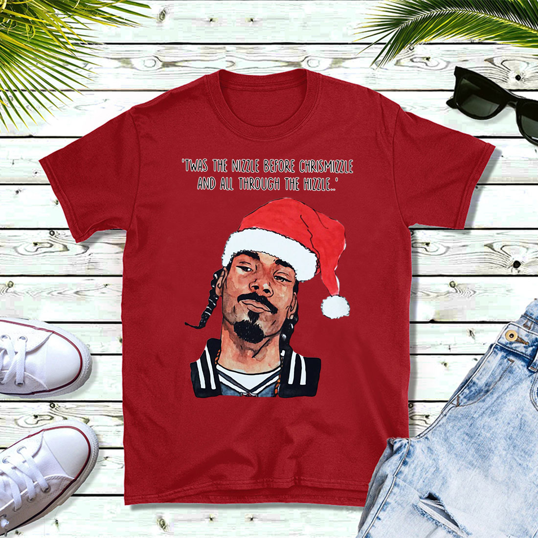 Snoop Dogg twas the nizzle before Christmizzle and all through the Hizzle shirt