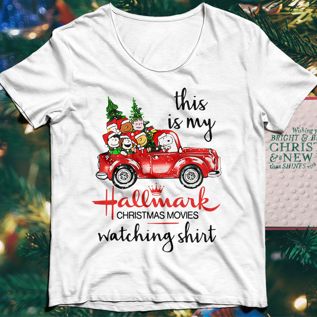 Snoopy And Peanut This is my Hallmark christmas movie watching sweater