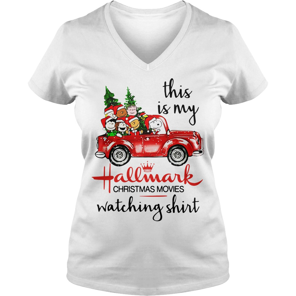 Snoopy And Peanut This is my Hallmark christmas movie watching V-neck T-shirt