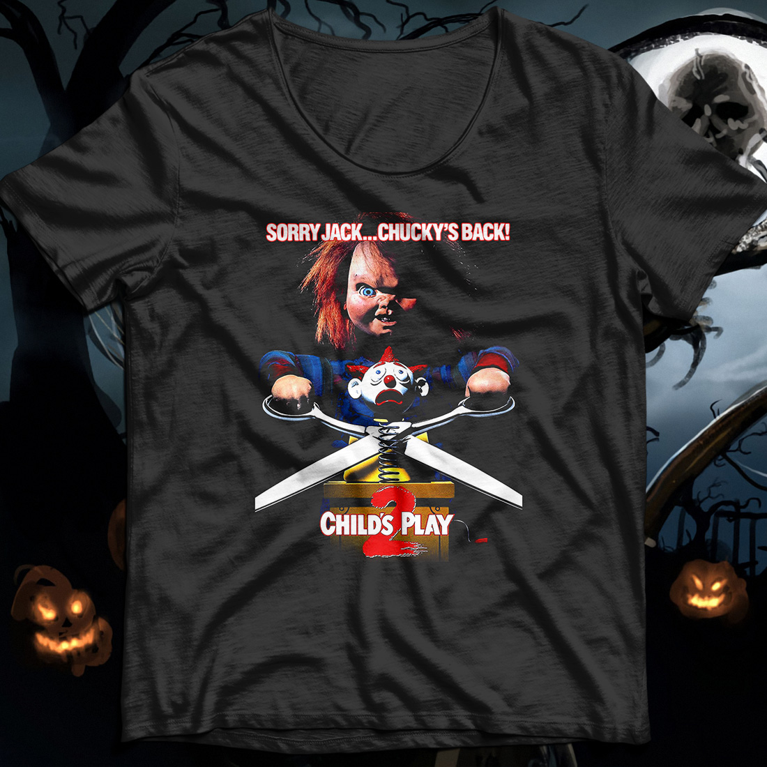 Sorry Jack Chucky's back child's play shirt