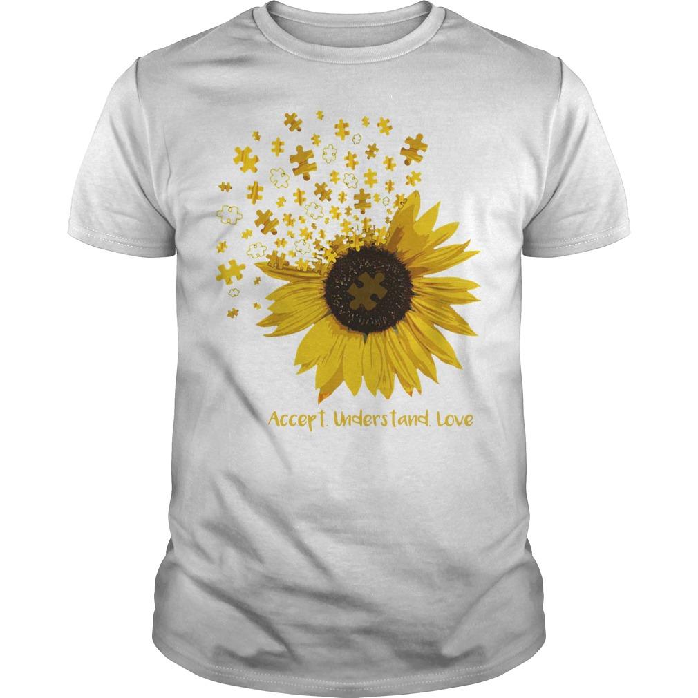 Sunflower Autism Accept understand love Guys shirt