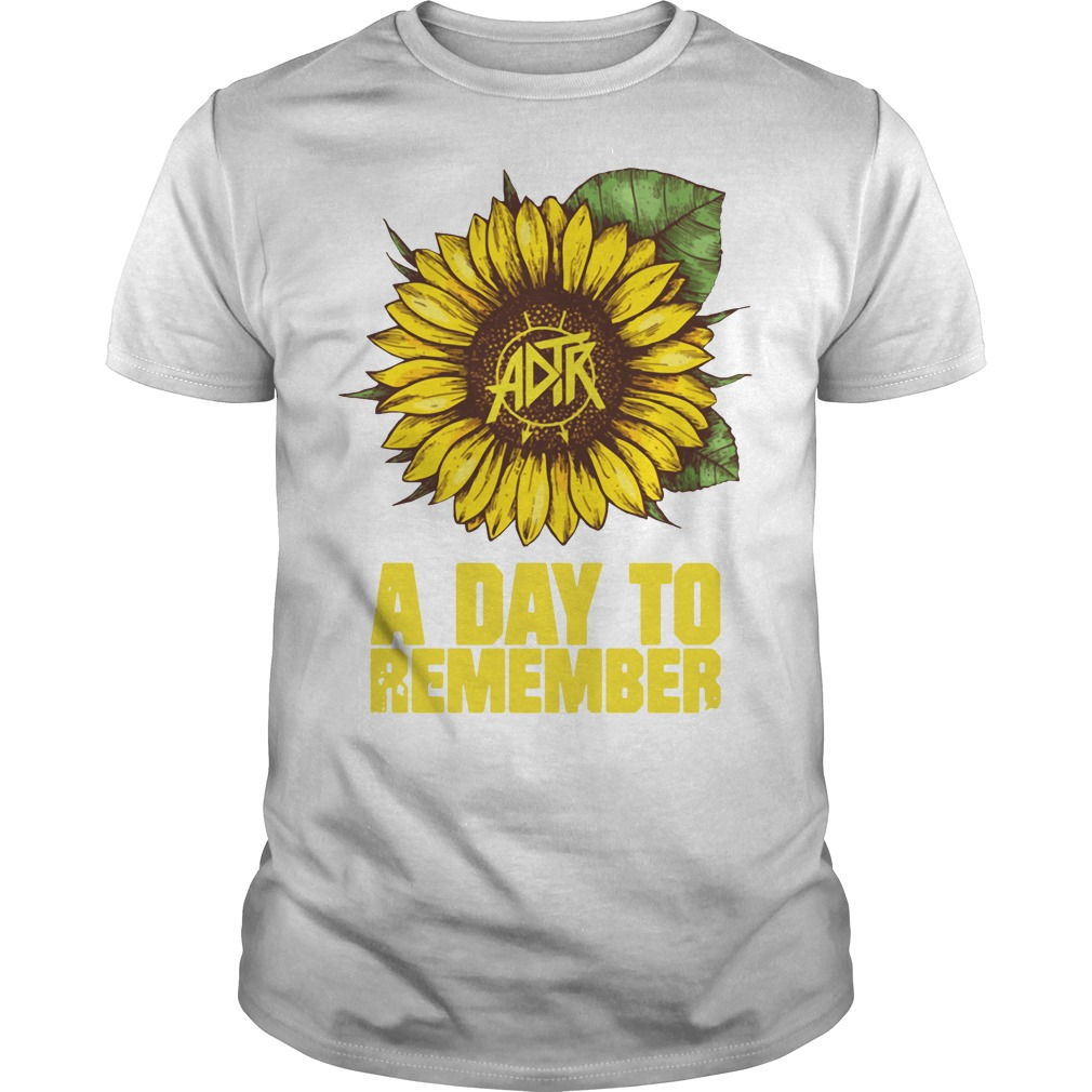 Sunflower a day to remember Guys shirt