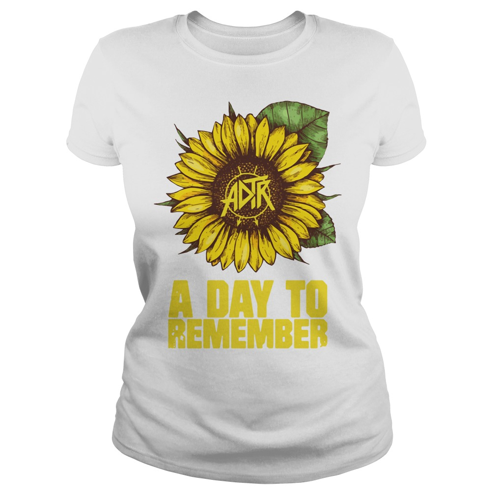 Sunflower a day to remember Ladies tee