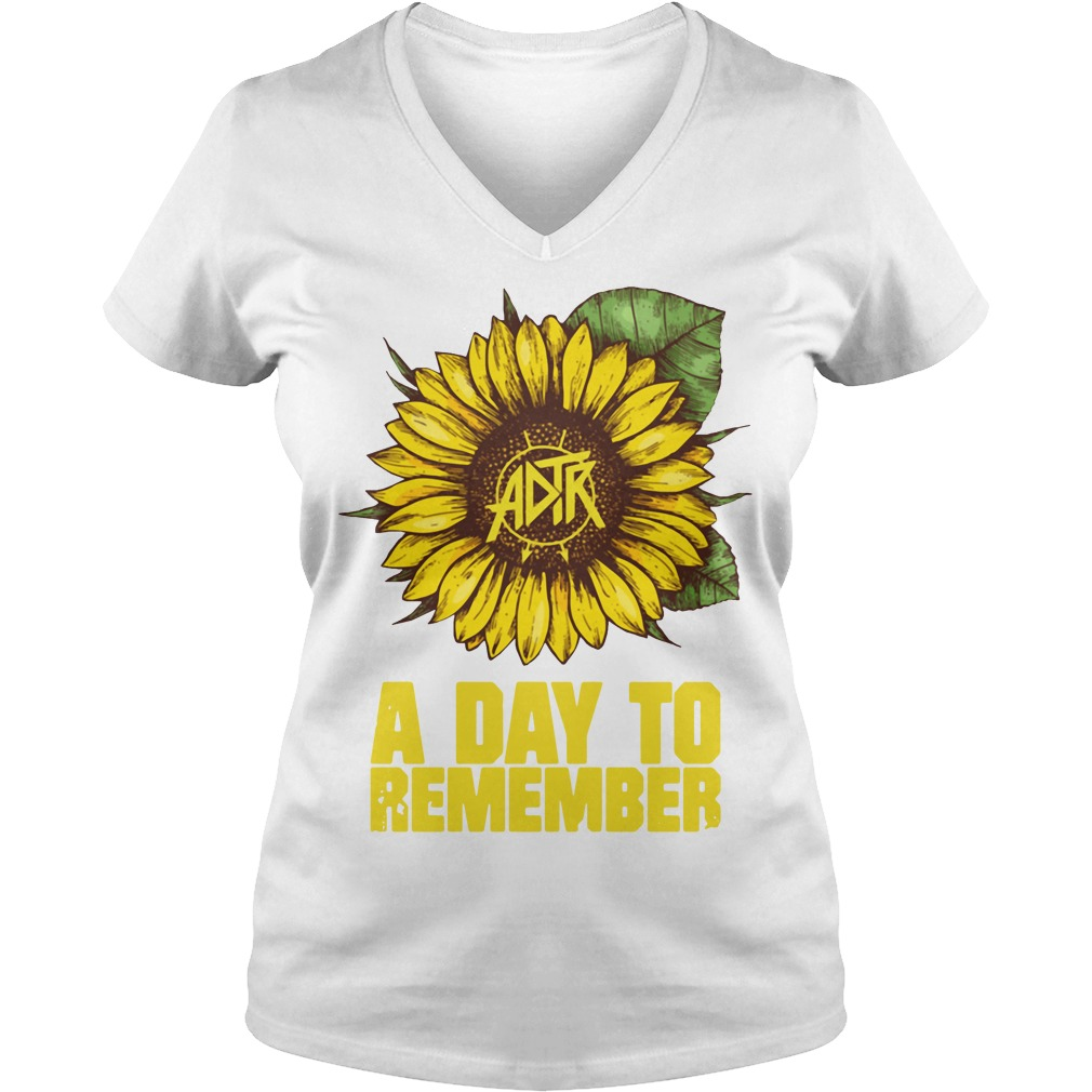 Sunflower a day to remember V-neck T-shirt
