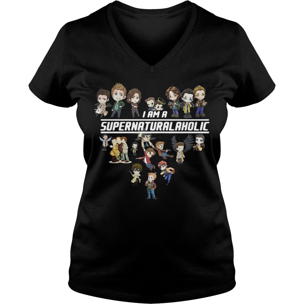 I am a supernatural aholic V-neck T-shirt