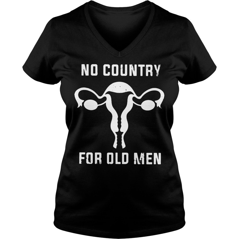 Uterus No Country For Old Men V-neck T-shirt