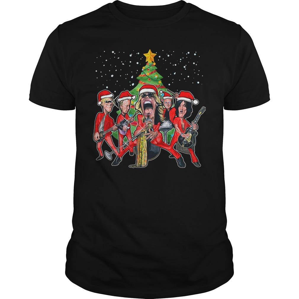 Aerosmith band Christmas Guys Shirt