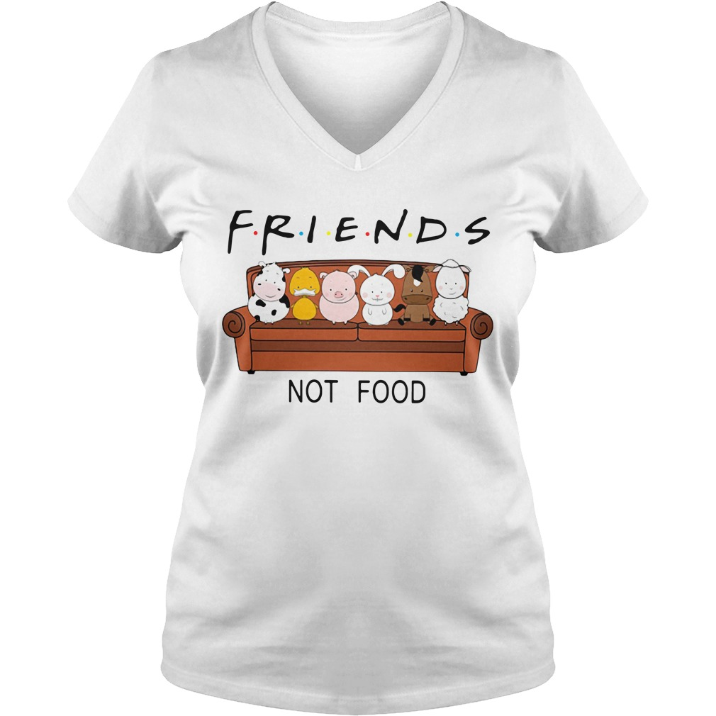 Animal are friends not food V-neck T-shirt