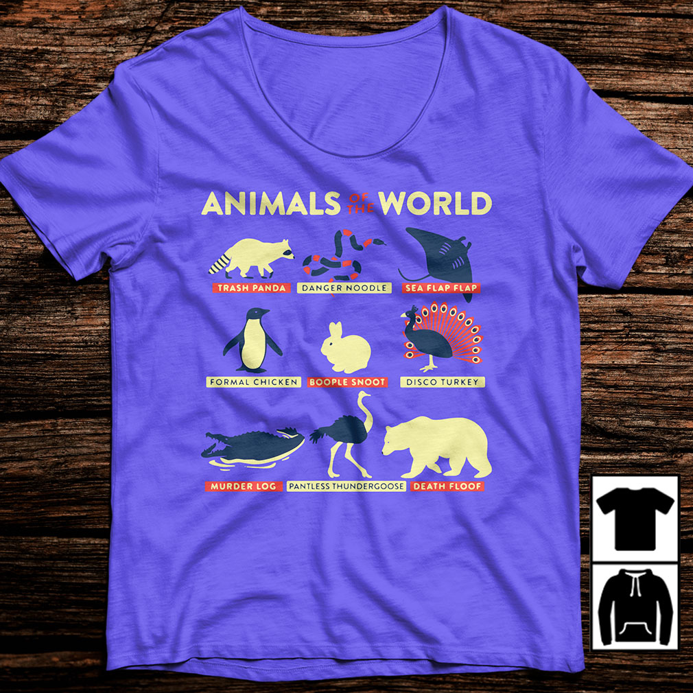 Animals of the world trash panda danger noodle sea flap flap formal shirt