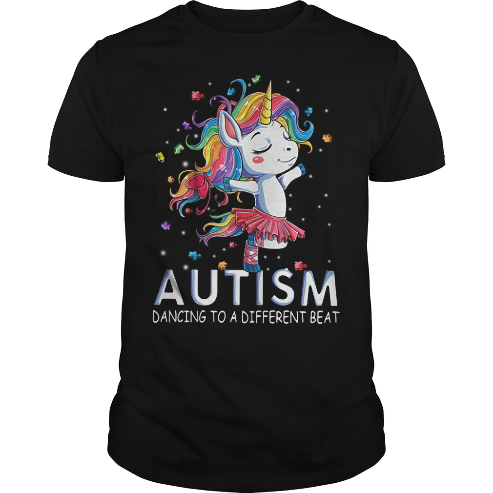 Autism Unicorn ballet dancing to a different beat Guys Shirt