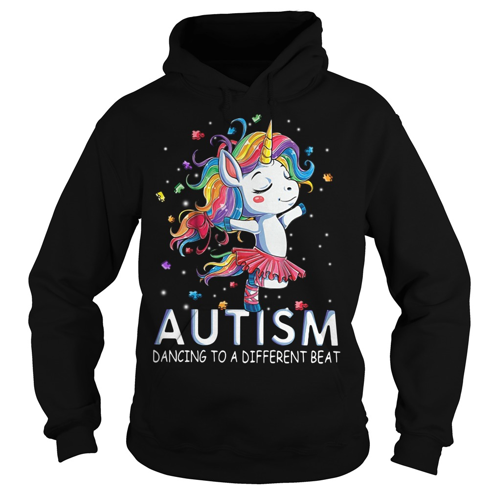 Autism Unicorn ballet dancing to a different beat Hoodie
