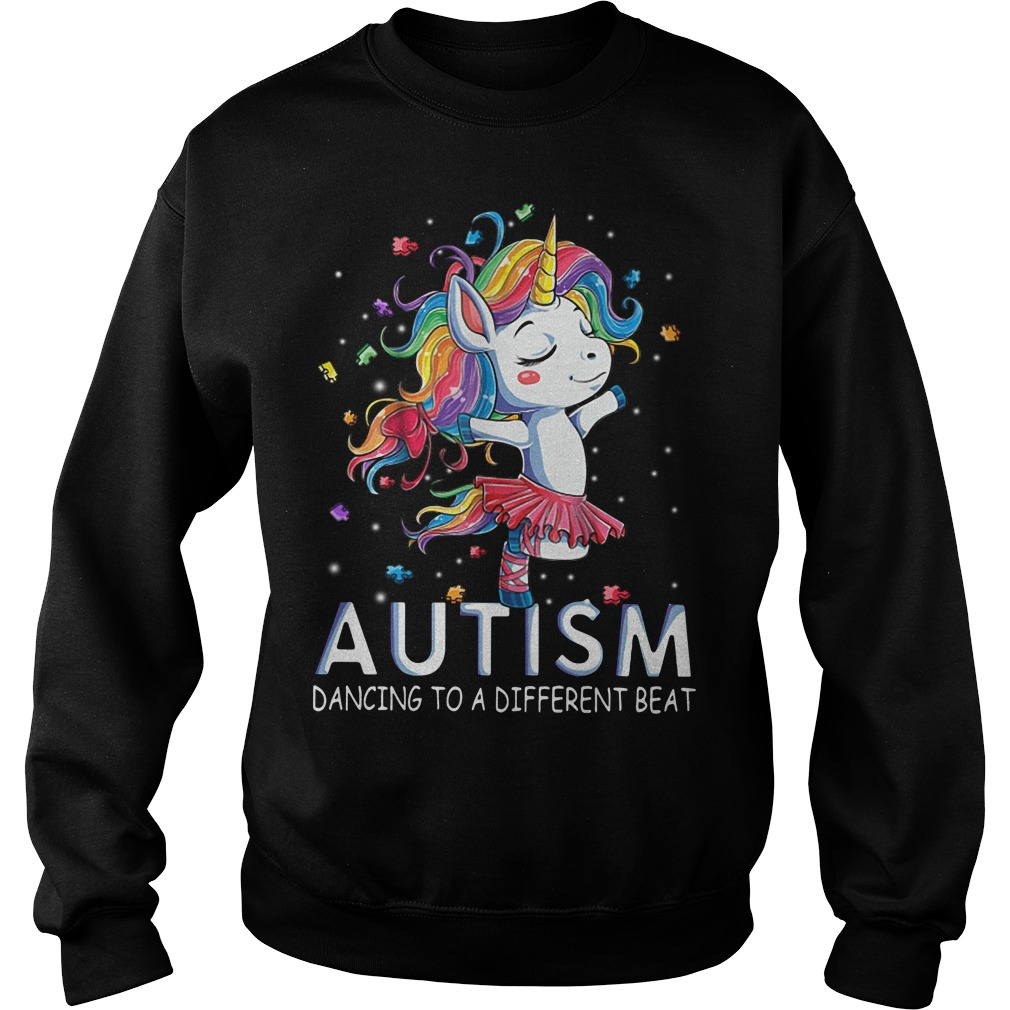 Autism Unicorn ballet dancing to a different beat Sweater