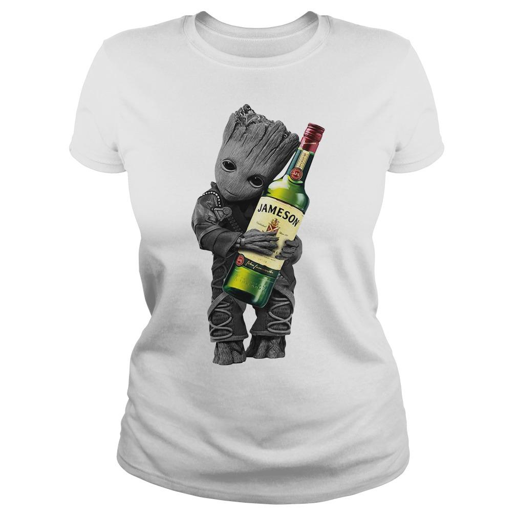 Baby Groot hug Jameson Ladies Tee