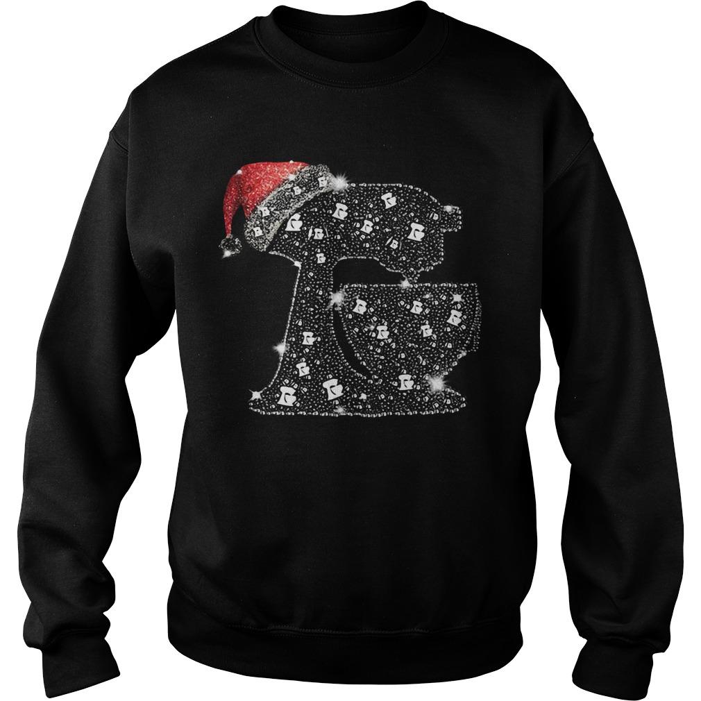 Baking diamond glitter Santa hat Christmas Sweater