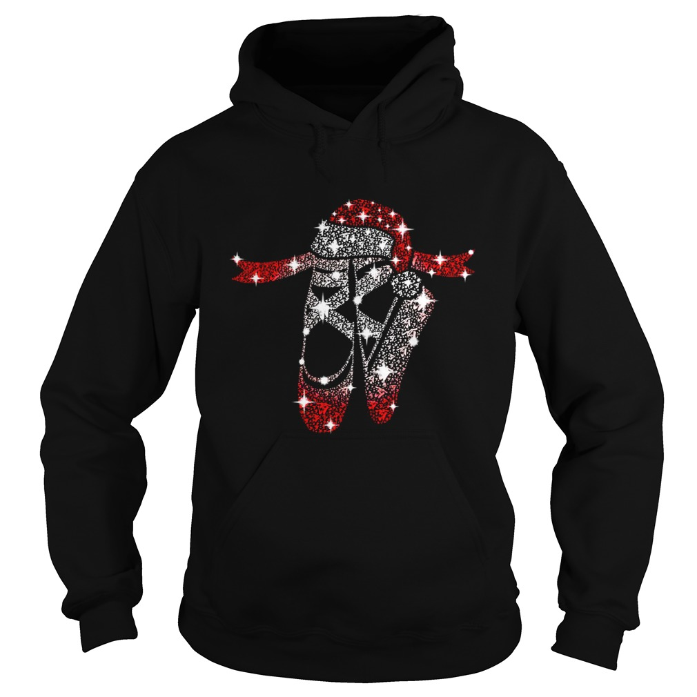 Christmas ballet shoes diamond Glitter Hoodie