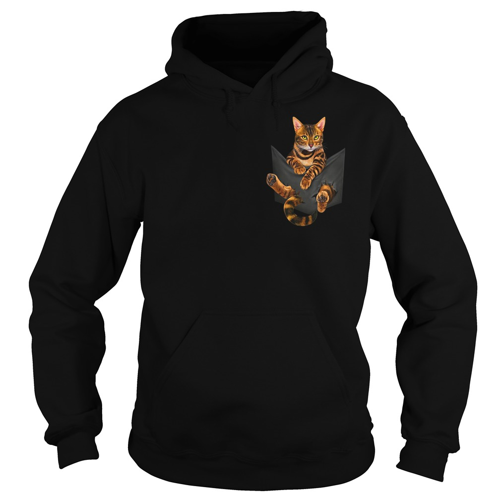 Bengal cat in a pocket Hoodie