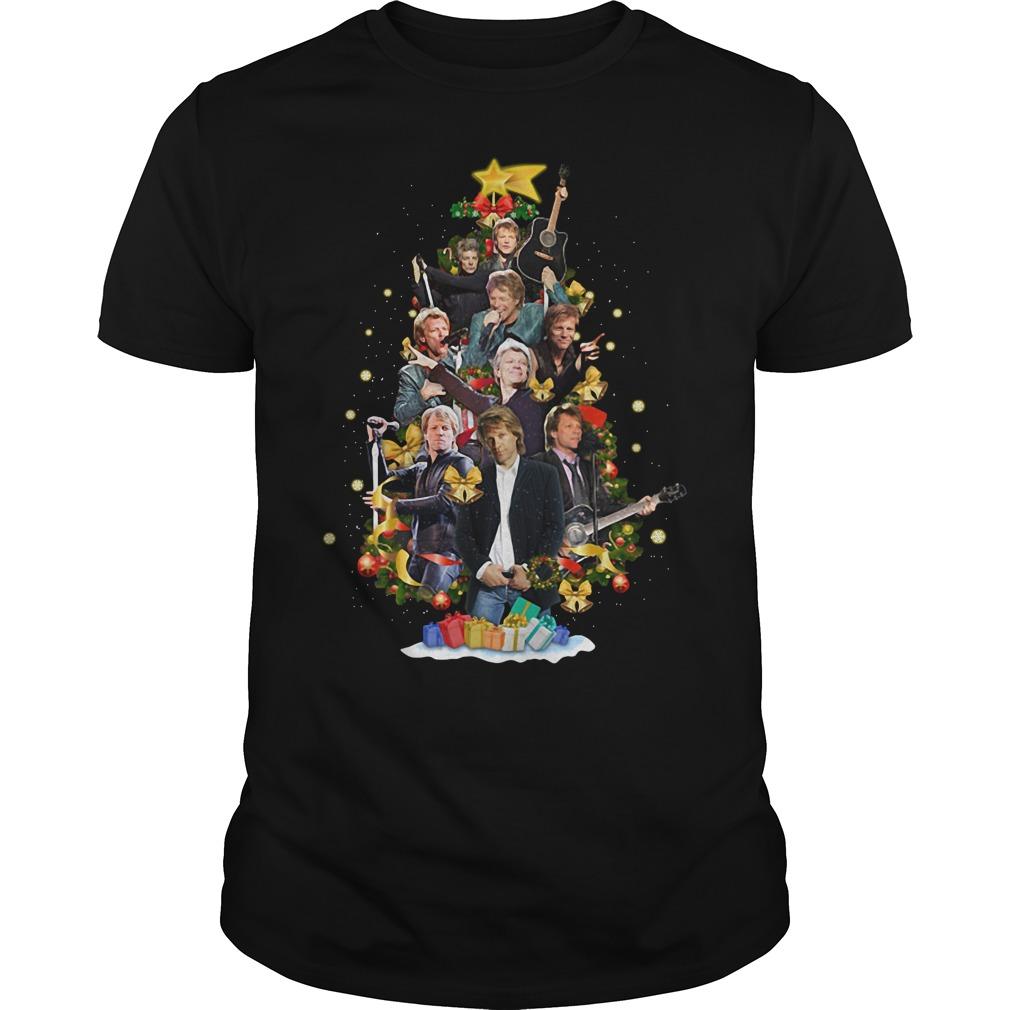 Bon Jovi Christmas tree Guys Shirt