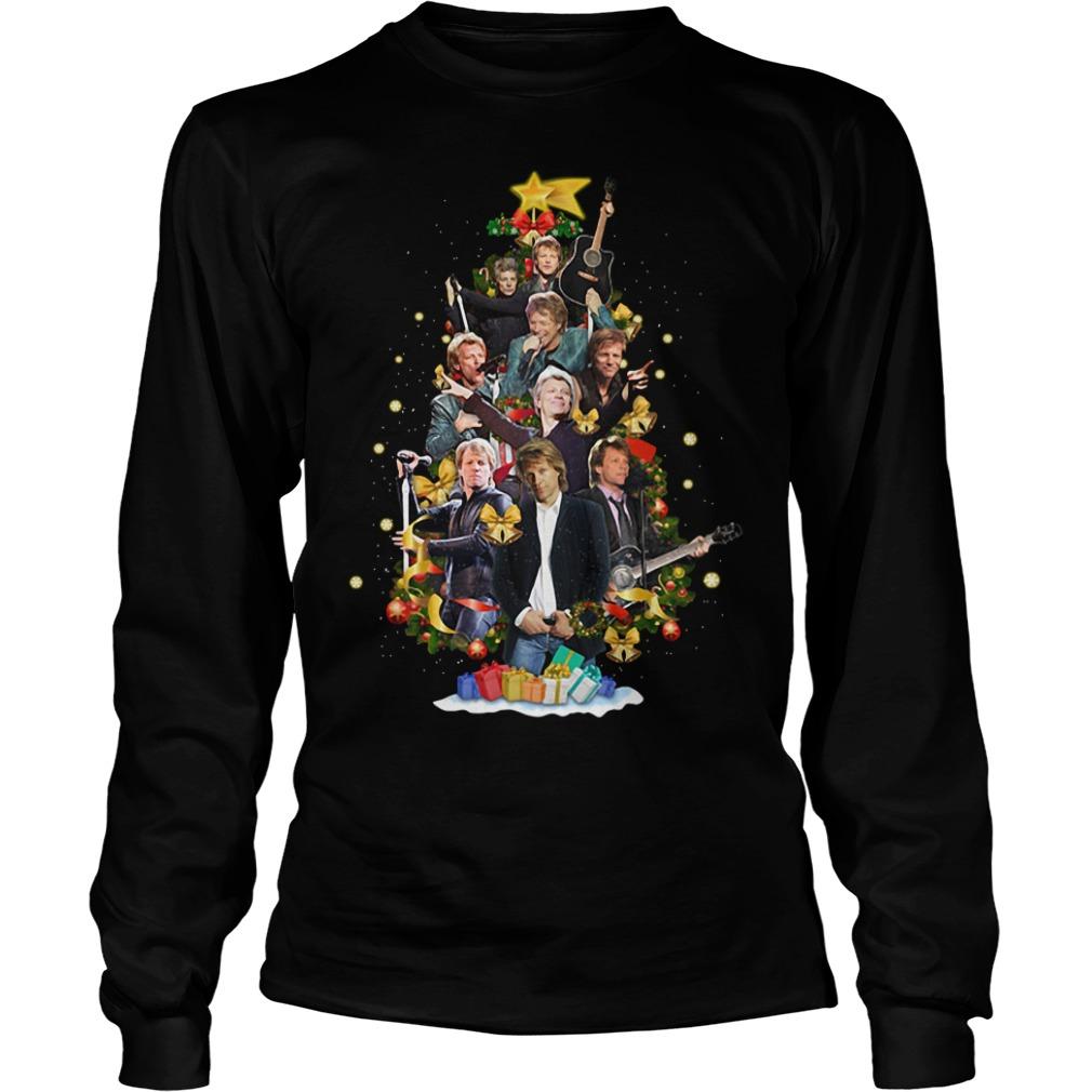 Bon Jovi Christmas tree Longsleeve Tee