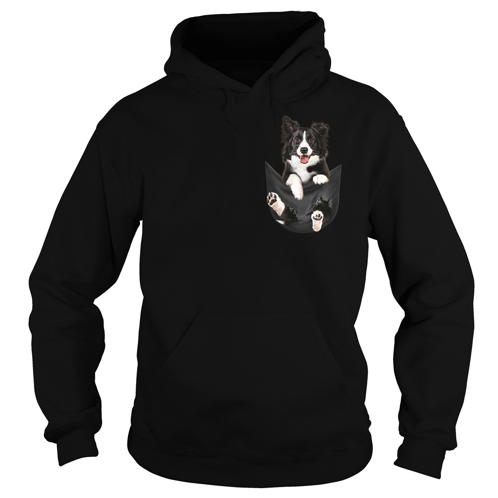Border Collie in your pocket Hoodie