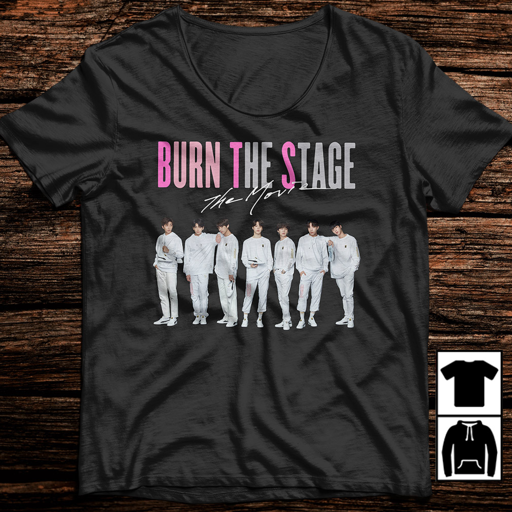 BTS burn the stage the movie shirt
