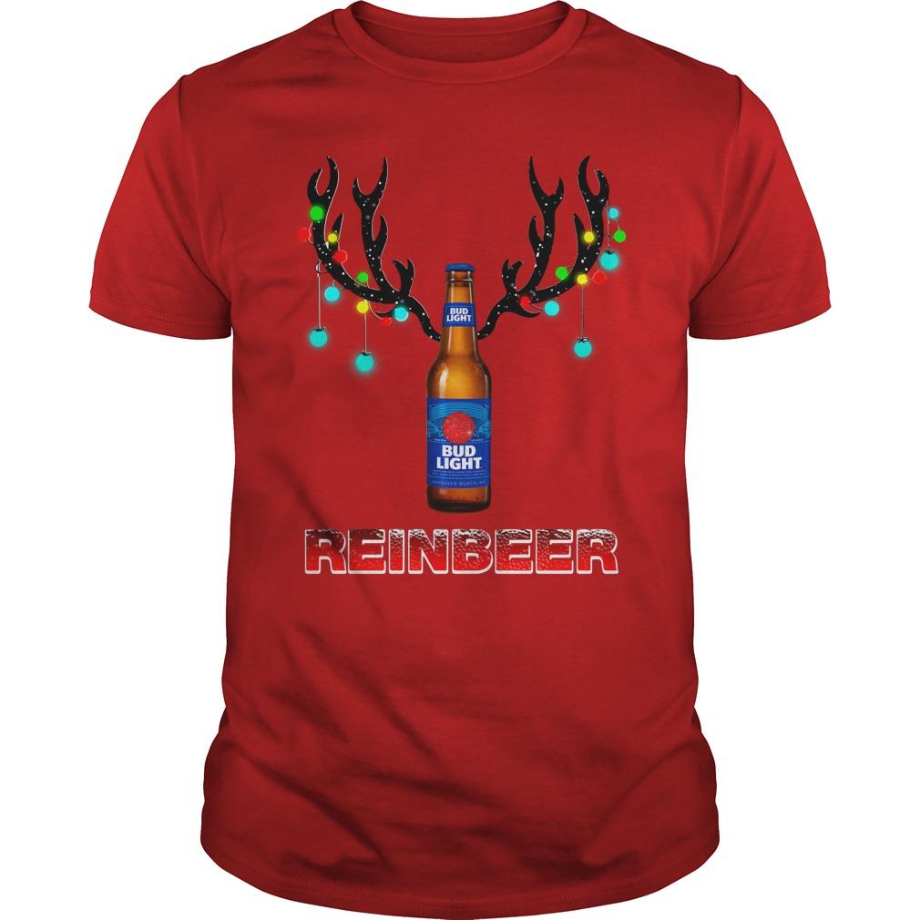 Bud Light Reinbeer Christmas Ugly Guys Shirt