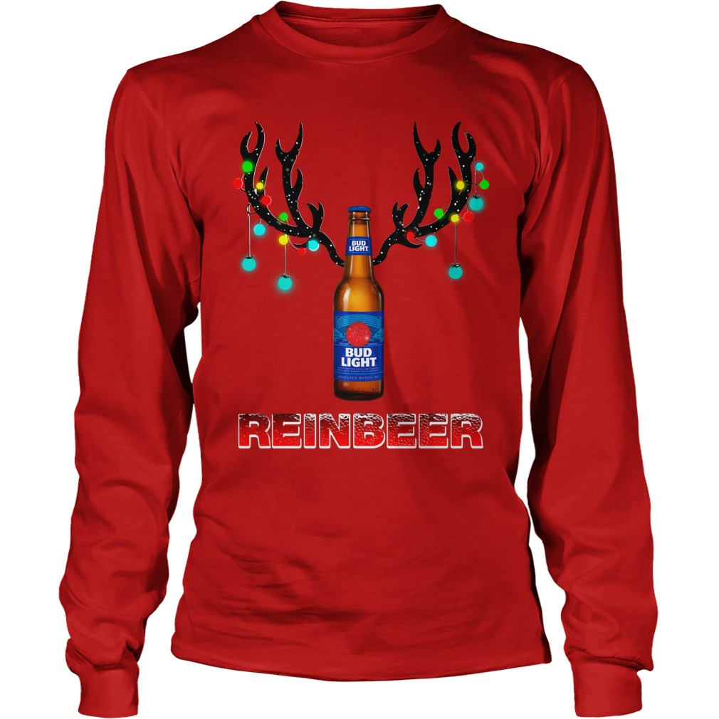Bud Light Reinbeer Christmas Ugly Longsleeve Tee