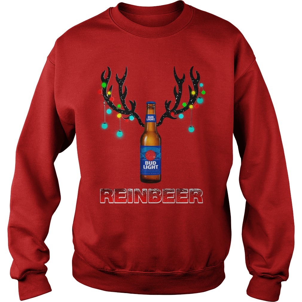 Bud Light Reinbeer Christmas Ugly Sweater