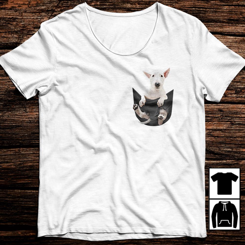 Bull Terrier in pocket shirt