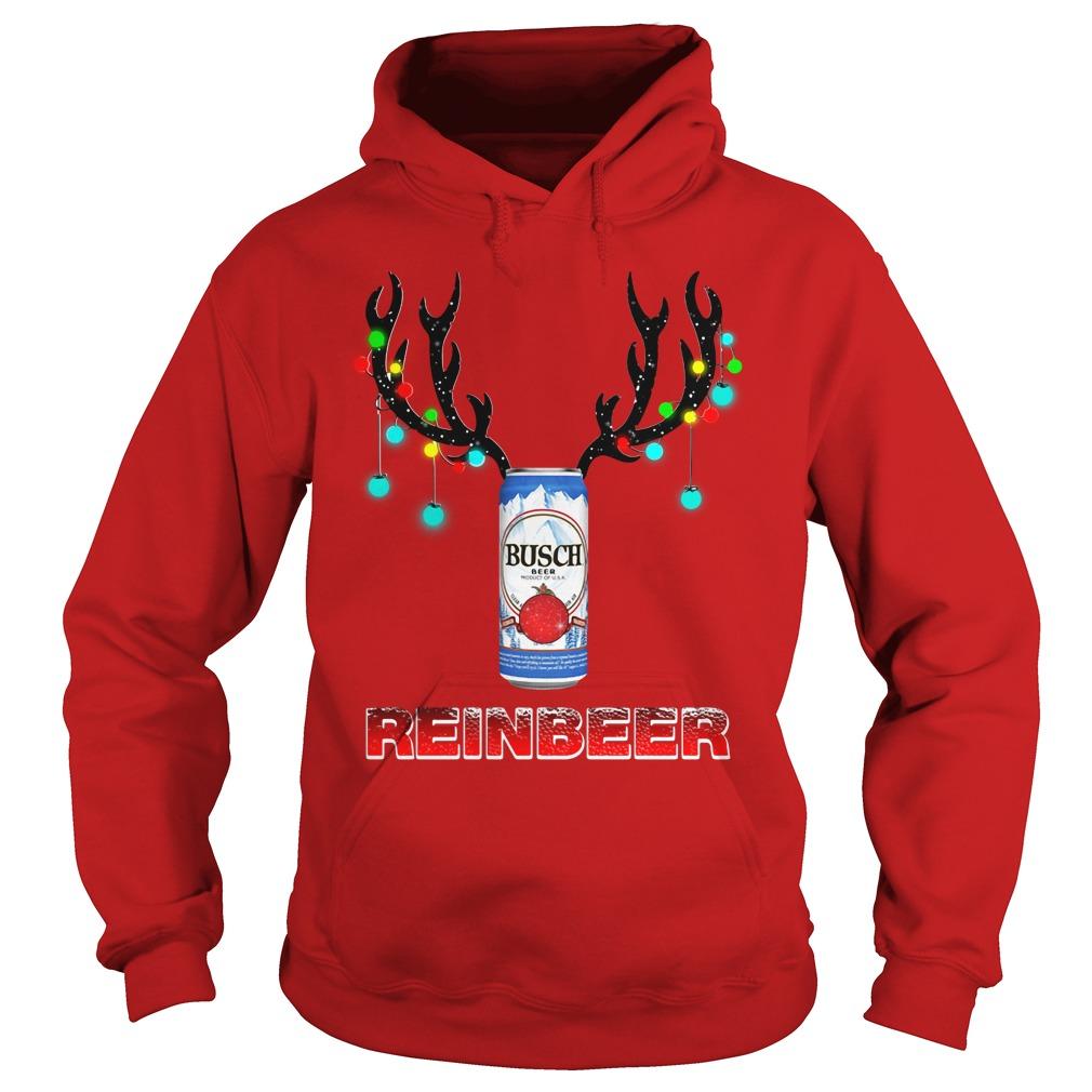 Busch Light Reinbeer Christmas Ugly Hoodie