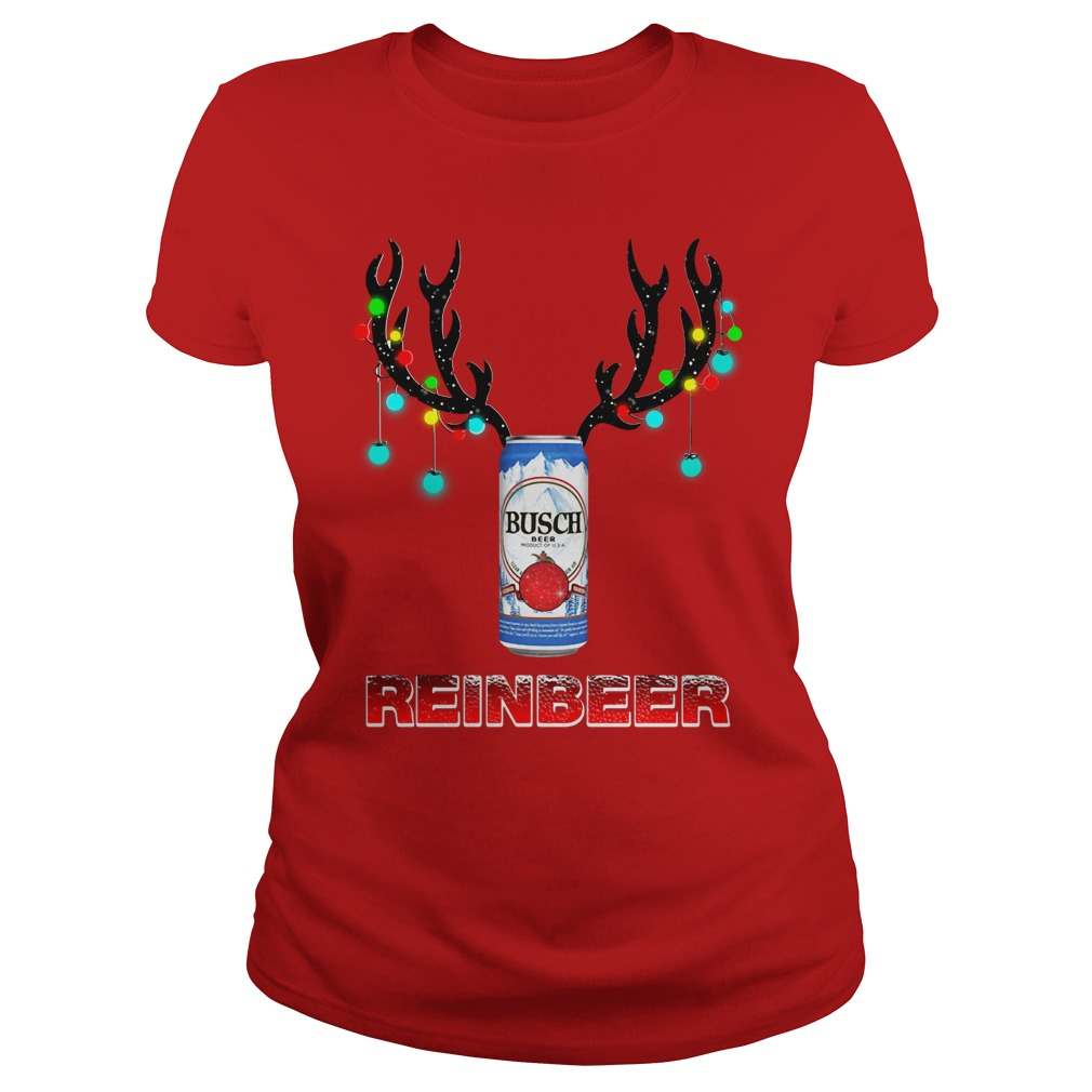 Busch Light Reinbeer Christmas Ugly Ladies Tee