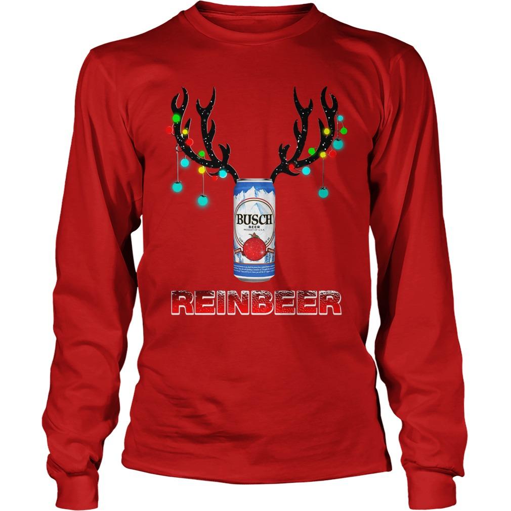 Busch Light Reinbeer Christmas Ugly Longsleeve Tee