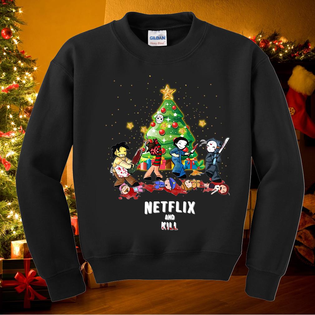 Charming Freddy Jason Michael Myers And Leatherface Netflix Kill Sweater
