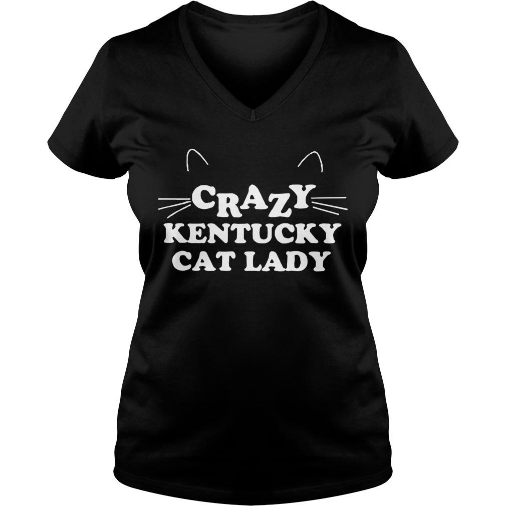 Crazy kentucky cat lady V-neck T-shirt