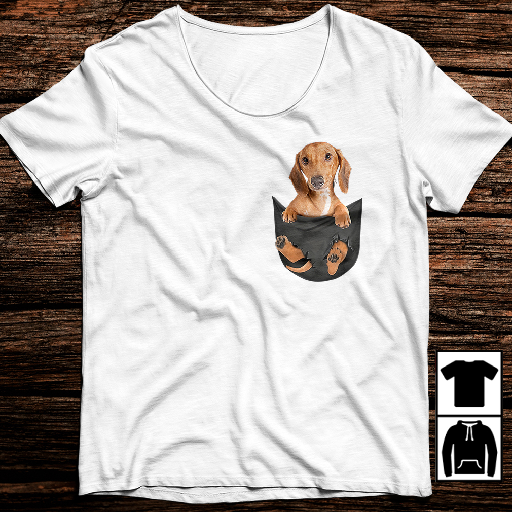 Dachshund Dog in your pocket shirt