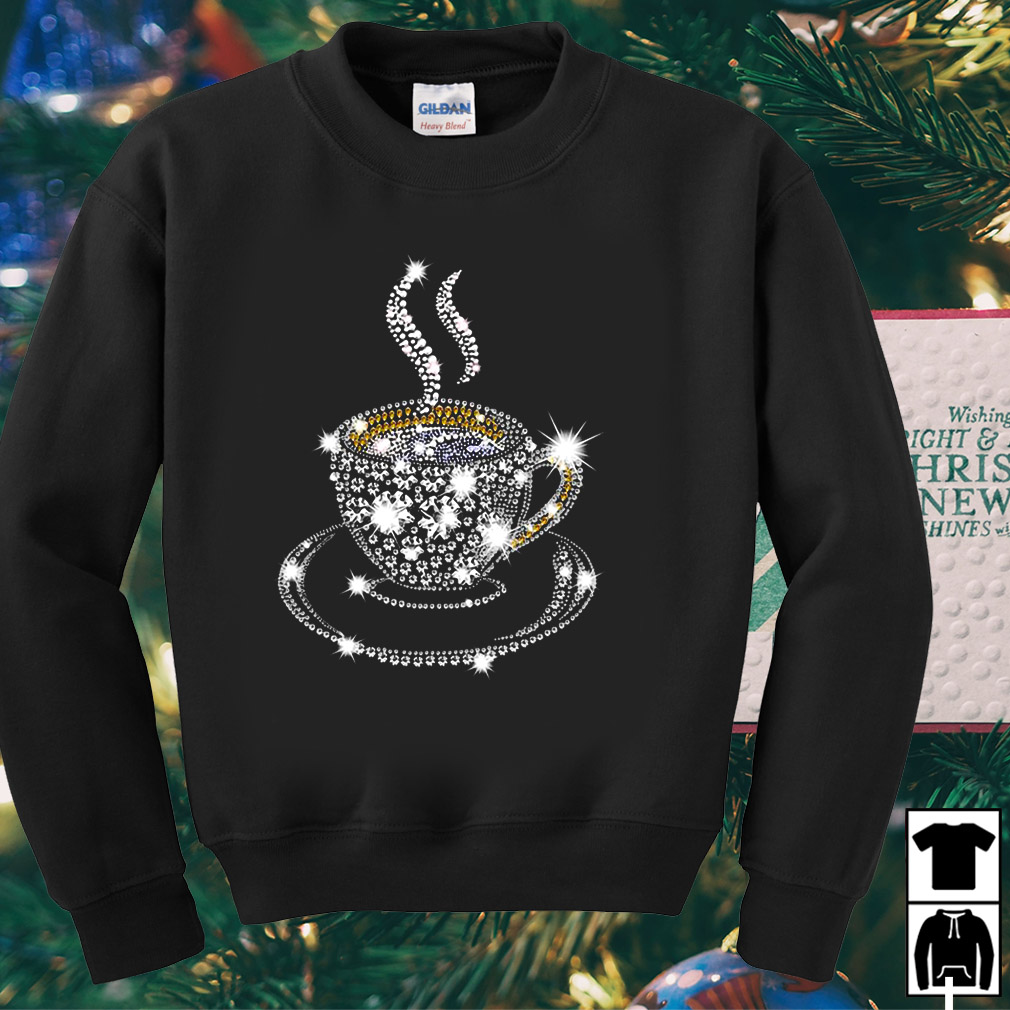 Diamond Coffee Glitter Christmas sweater