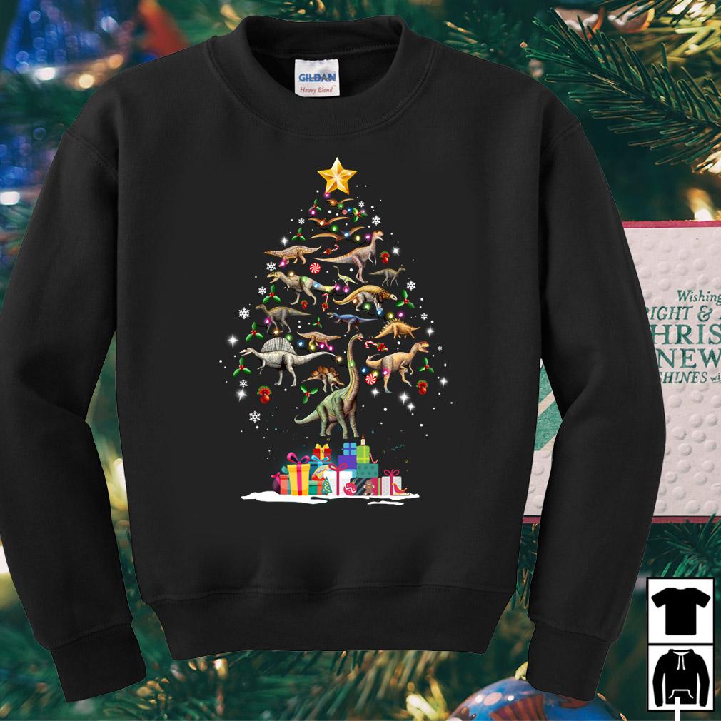 Dinosaurus funny Christmas tree sweater