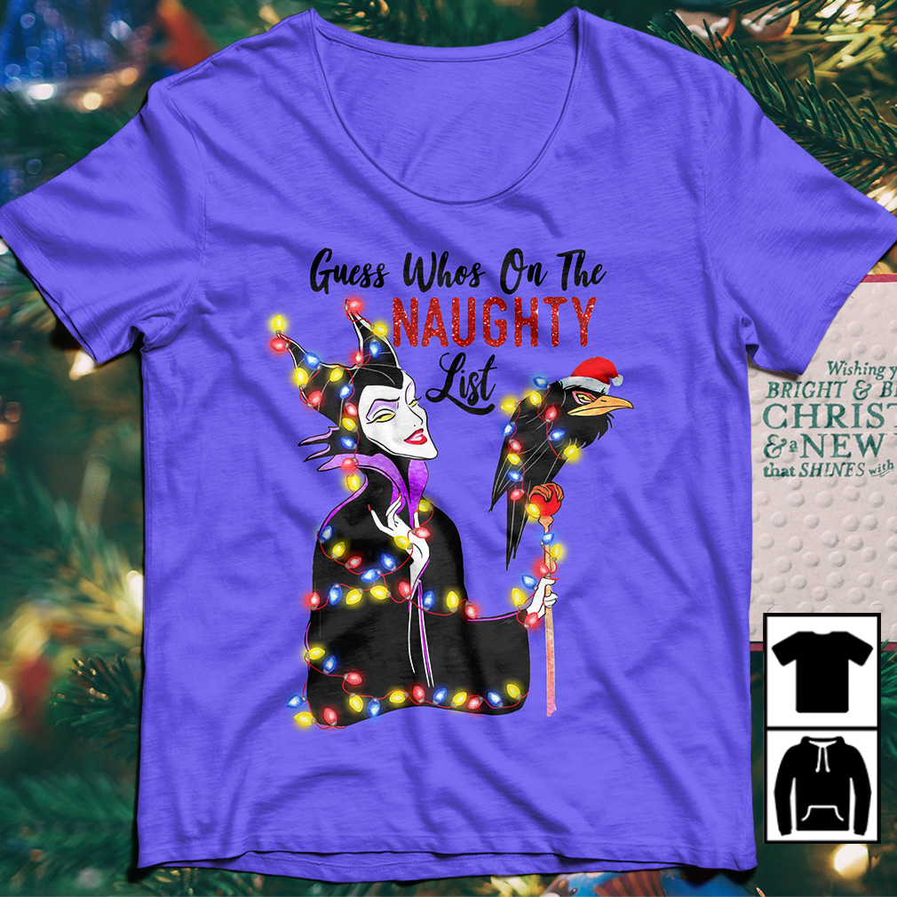 Disney Maleficent Guess who's on the naughty list Christmas sweater