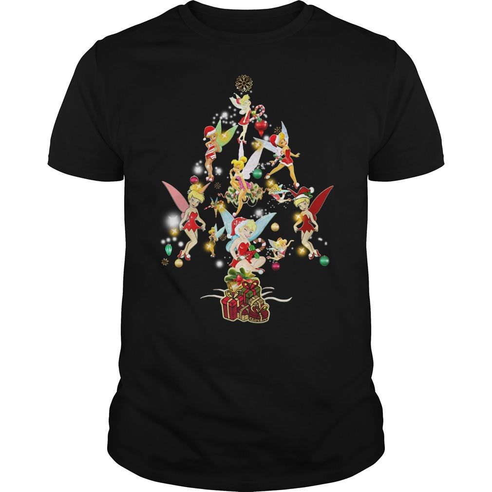 Disney Tinkerbell Christmas Tree Guys Shirt