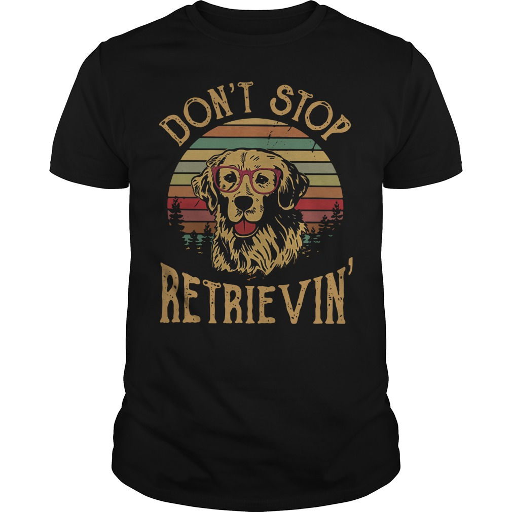 Dog don't stop retrieving Guys Shirt
