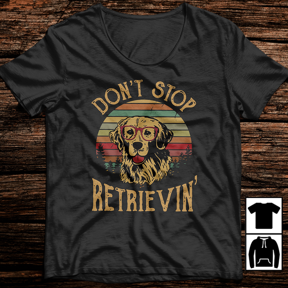 Dog don't stop retrieving shirt
