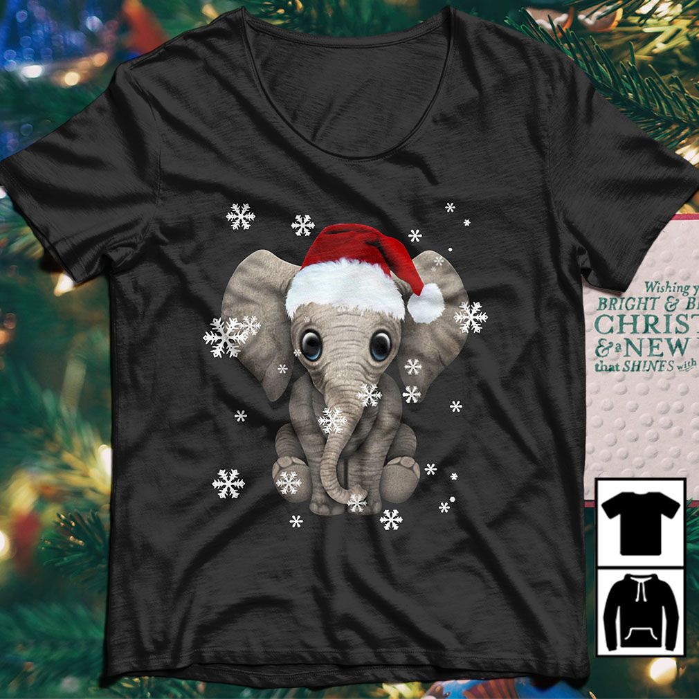 Elephant Santa Christmas Ugly sweater
