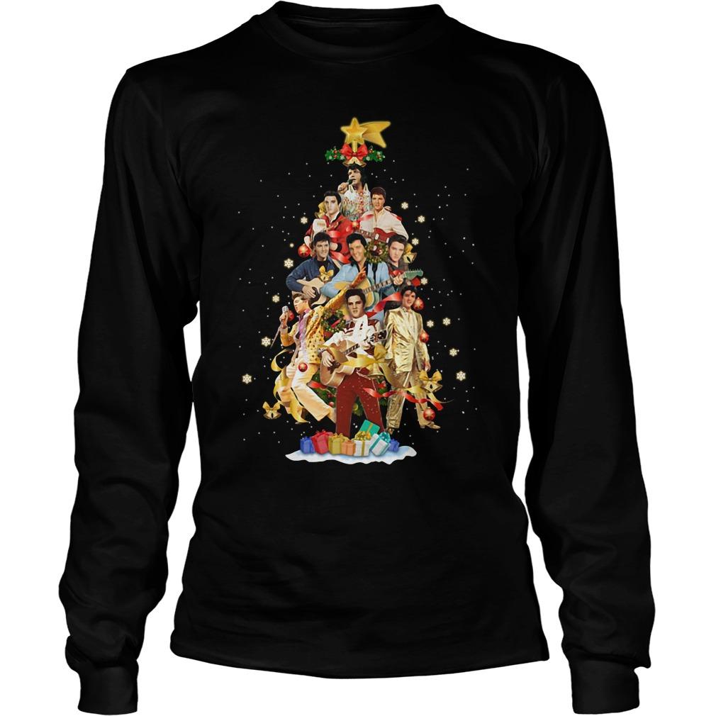 Elvis Presley Christmas tree Longsleeve tee