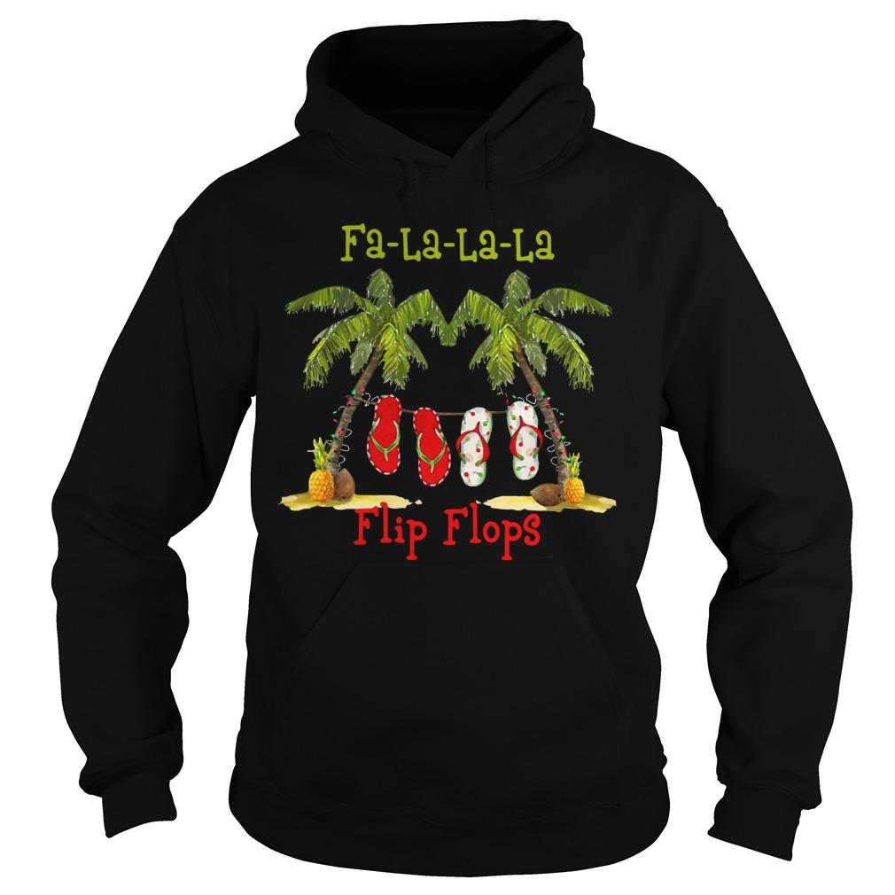 Christmas Fa-la-la-la flip flops Hoodie