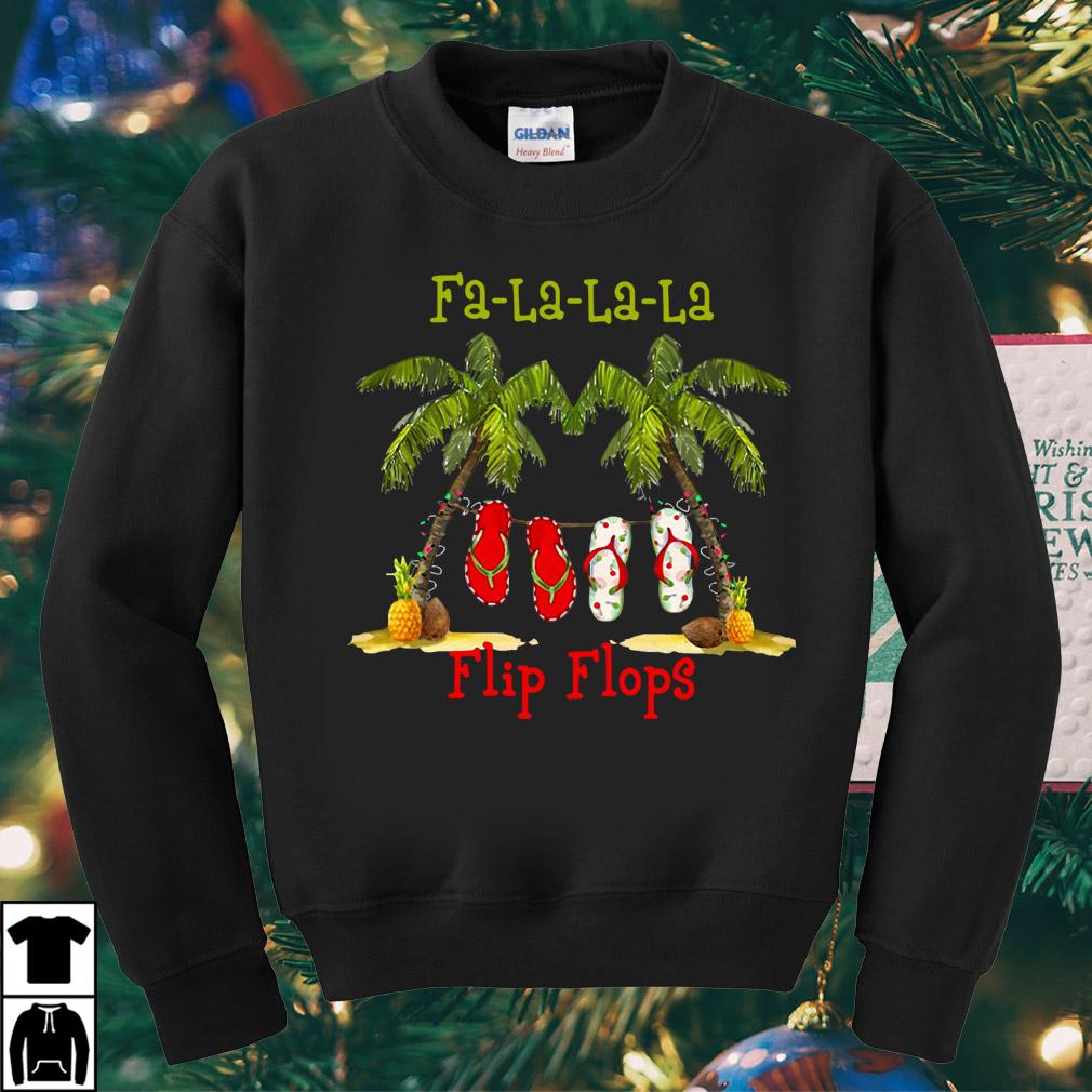Christmas Fa-la-la-la flip flops sweater
