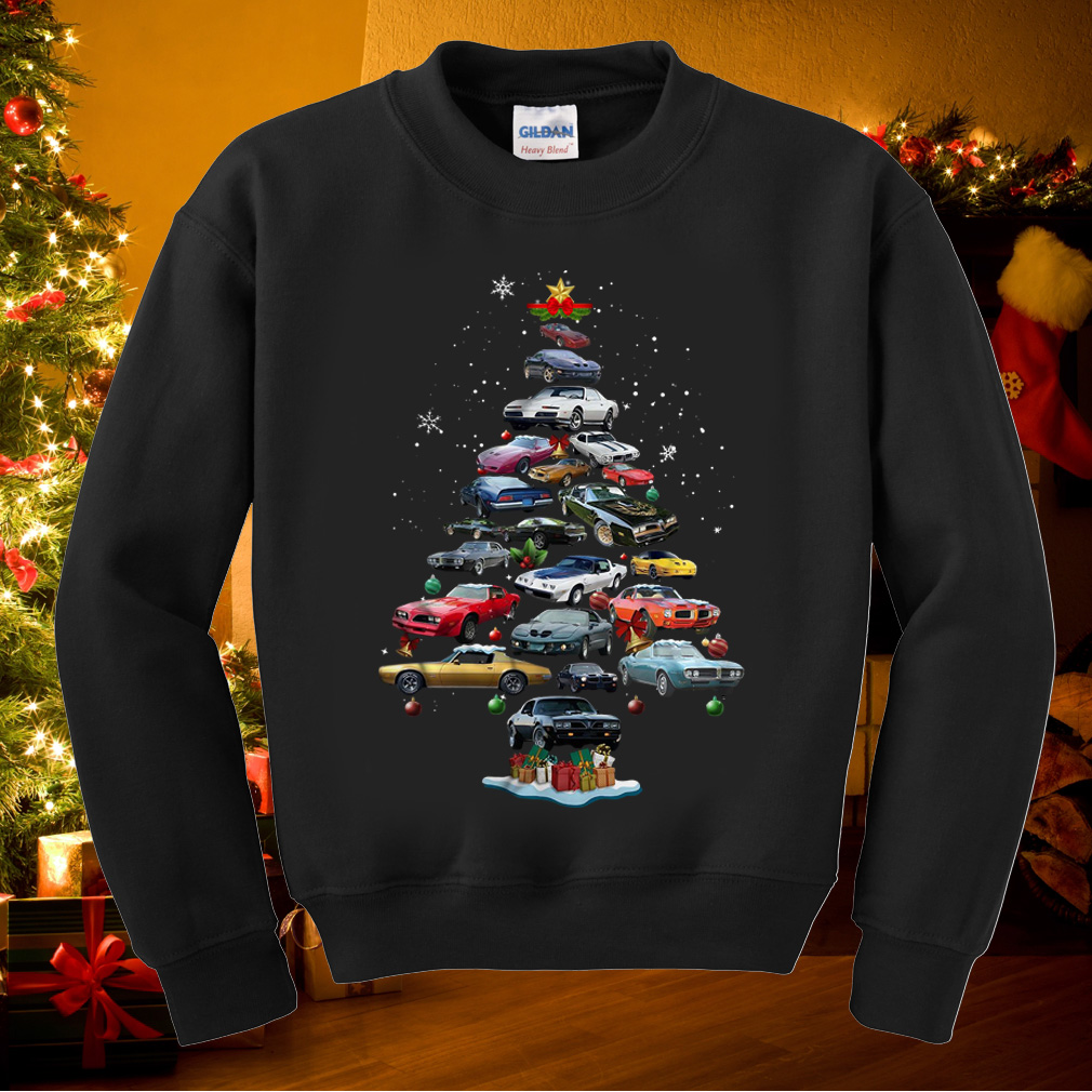 Firebird Christmas tree sweater