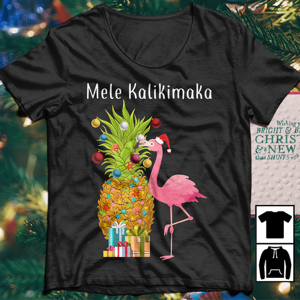 flamingo decorate pineapple mele kalikimaka christmas sweater