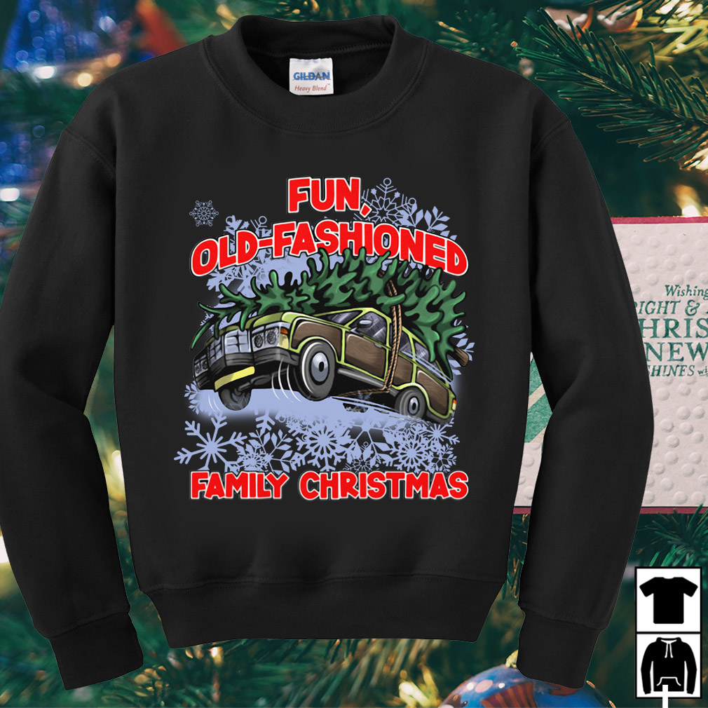 Fun old fashioned family Christmas sweater