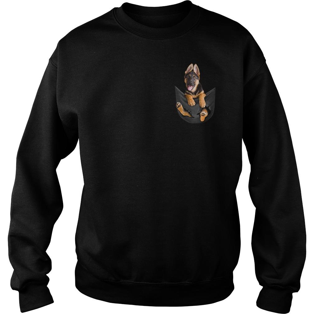 German Shepherd in pocket Sweater
